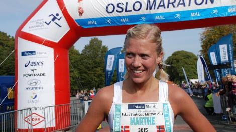 Marthe i mål friidrett