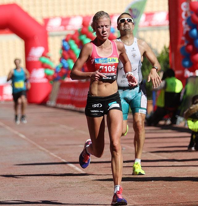 Målgang Sevilla Marathon