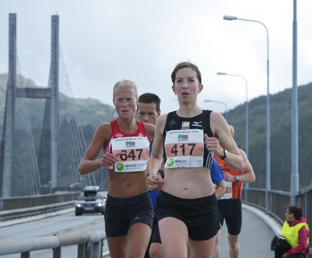 Marthe og Annie NM halvmaraton